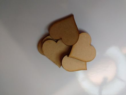 wooden craft HEART shapes, laser cut 3mm mdf embellishments, decoupage,